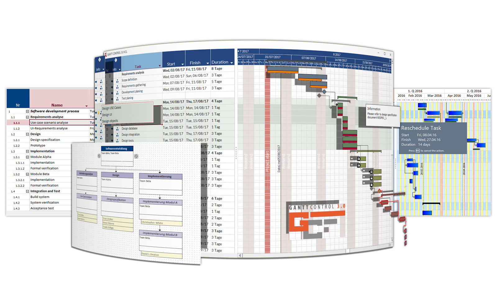 Click to view Gantt Control VCL 3.0 screenshot